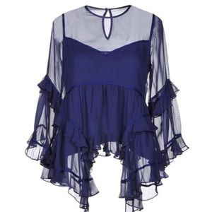 cinq a sept Melodie Tiered Silk Chiffon To…